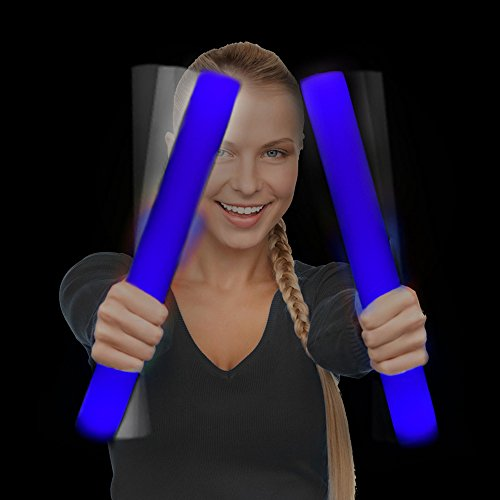 Fun Central 12 Packs - LED Foam Stick Bulk - Light Up Batons for Wedding, Concert and Party - Blue