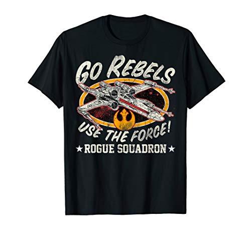 Star Wars Team Rebel Rogue Squadron T-Shirt (Star Wars Rogue Squadron Ii Rogue Leader Gamecube)