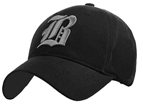 4sold - Gorra de béisbol - para hombre black B gray