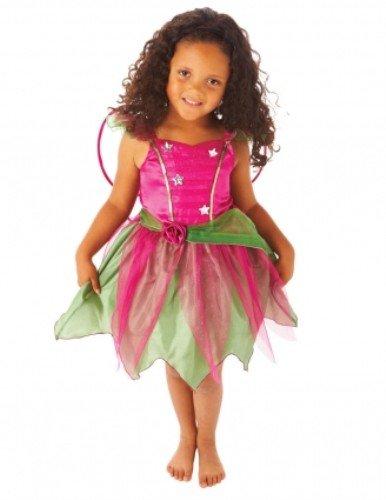 81b750d1e548 Girls Dark Pink Flower Fairy Fancy Dress Childrens World Book Day ...