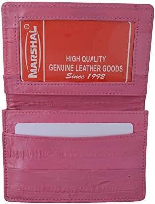 EEL Skin Leather Business Credit Card Holder #E324