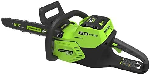 Greenworks GD60CS40 Motosierra Batería Inalámbrica, Verde/Negro