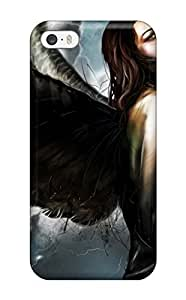 For Iphone 5/5s Premium Tpu Case Cover Moody Angel Protective Case