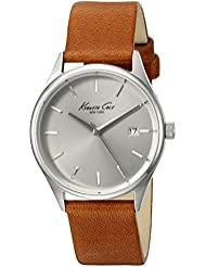 Kenneth Cole New York Womens Classic Quartz Stainless Steel and Brown Leather Dress Watch (Model: 10026626)