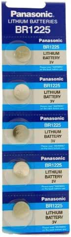 Panasonic BR1225 3 Volt Lithium Coin Battery (pack of 5)