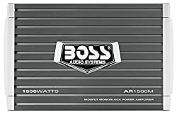 Car Amplifier | Boss Audio Ar1500m Armor 1500 Watt, 24 Ohm Stable Class Ab, Monoblock, Mosfet With Remote Subwoofer Control