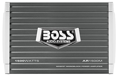 Car Amplifier | BOSS Audio AR1500M Armor 1500 Watt, 2/4 Ohm Stable Class A/B, Monoblock, Mosfet with Remote Subwoofer Control - 1980 Sub