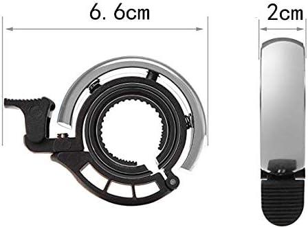 geeignet f/ür 22,2 mm bis 24 mm Mountainbike und Bike 2 St/ück Fahrradklingel mit klarem und lautem Klang Silber
