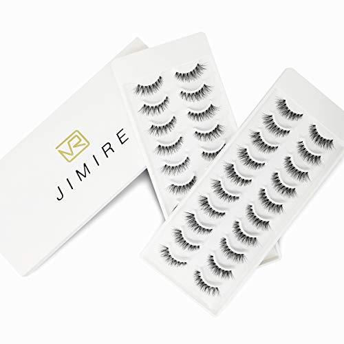 JIMIRE False Eyelashes Natural 20 Pairs Lashes Wispy Fake Eyelashes Multipack