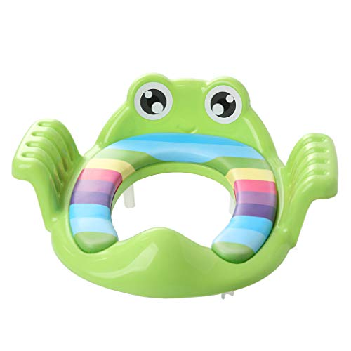 Adjustable Training Chair for Toddler Boys & Girls Lovely Frog Potty Chair Seat Step Stool for Children 1-5 Y (Yellow)