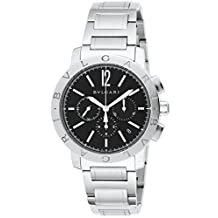 BVLGARI Bulgari Black Dial Automatic Chronograph Watch Men BB41BSSDCH