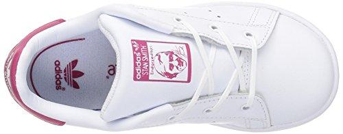 Adidas Originals Boys' Stan Smith I Sneaker, White/White/Bold Pink, 9.5 Medium US Toddler