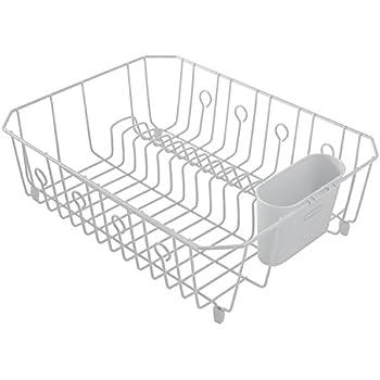 Amazon Com Sterilite 2 Piece Large Sink Set Dish Rack