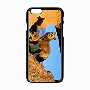 Samsung Galaxy S6 Black Hardshell Case 4.7inch rocks standing watching attention Desin Images Protector Back Cover