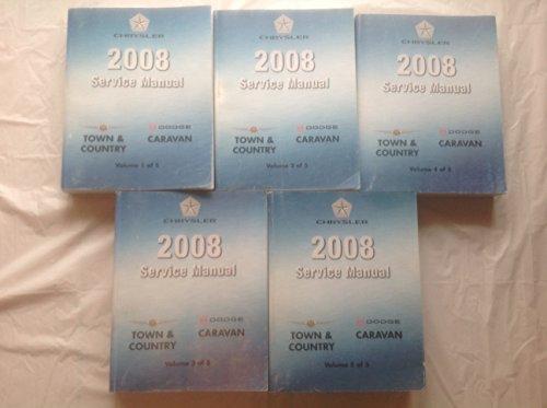 - 2008 DODGE CARAVAN MINI VAN Service Shop Repair Manual Set FACTORY OEM (5 volume set)