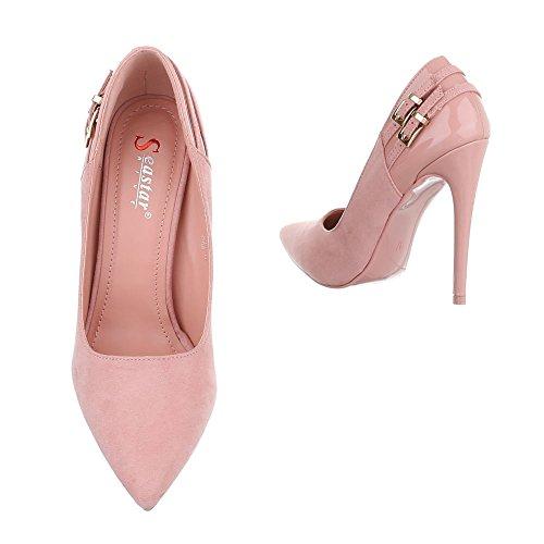 Ital-Design Women's Plateau Pink np9UyobY