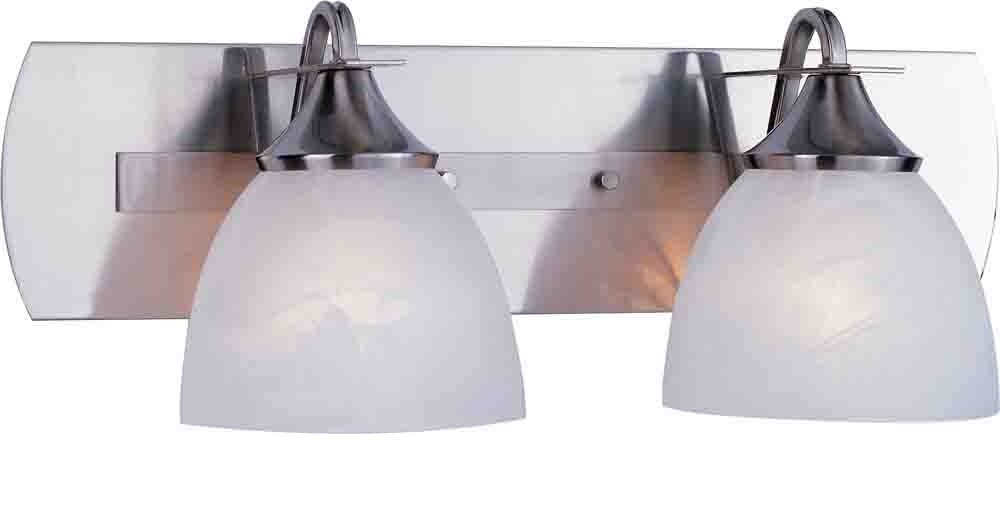 Volume Lighting V4842-33 Durango Vanity Light Fixture, Maximum Two 100 Watt Incandescent Medium Base Bulbs, 22'' , Brushed Nickel, 9'' x 27.5'' x 9.25''