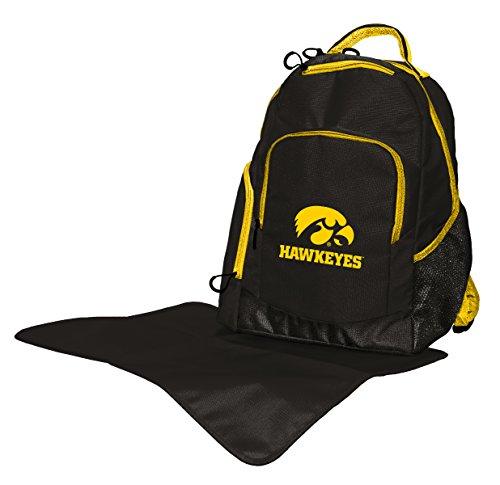 Wild Sports NCAA College Iowa Hawkeyes Diaper Backpack, 17 x 13.5 x 7-Inch,...