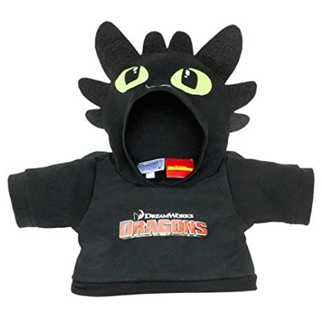 Amazon build a bear workshop toothless teddy bear hoodie how build a bear workshop toothless teddy bear hoodie how to train your dragon ccuart Images