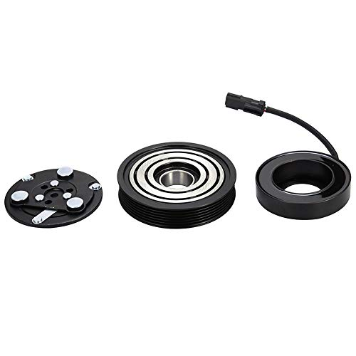 Catinbow AC Compressor Clutch Assembly 55037466AE Repair Kit with Pulley Bearing, Electromagnetic Coil & Plate for Jeep Liberty 02-05,Dodge Dakota Ram 02-03 ()