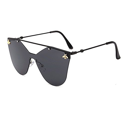 Retro de de de con sol de abeja sin mujer de para estilo una gafas sol gafas de Ojos retro montura gafas único sol pieza gafas esqu Gafas de gato de sol decration de estilo de sol gafas personalidad prpqw