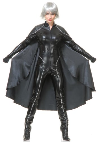 Charades Women's Thunder Super Hero with Cape, As Sample, Small (X Men Costumes Women)