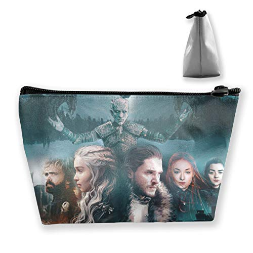 Game Of Thrones Season 8 Poster Toiletry Bag Cosmetic Makeup Travel Storage Bag With Zipper