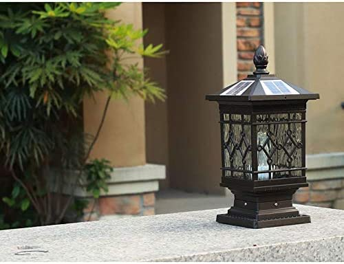 Libuty Solar Column Headlight Outdoor Waterproof Gate Fence Garden Lamp Home Outdoor Villa Garden Wall Head Column Lamp, Outdoor Post Lights Dusk To Dawn