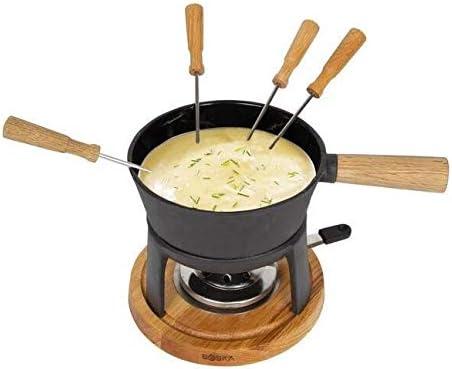 Brun//Argent//Noir Boska 853523 Set /à fondue Pro Acier Inoxydable 30 x 21 x 17 cm