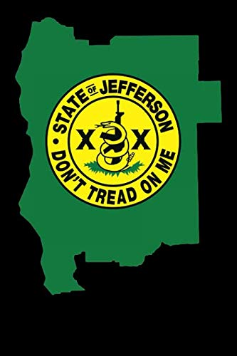 State of Jefferson State Outline: Blank Lined Notebook, Journal or Diary