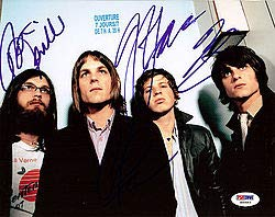 Kings of Leon Signed 8x10 Photo Caleb Followill Nathan Followill Jared Followill and Matthew Followill - PSA/DNA Authentication - Celebrity Autographs