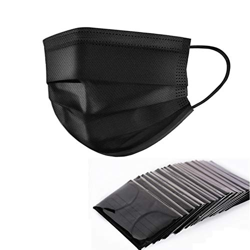 - Yamde 50 Pcs Disposable Earloop Face Masks Germ Dust Protection Four Layer Activated Carbon Filter Face Masks