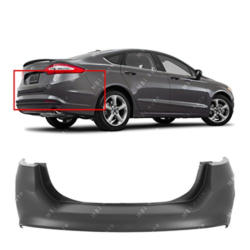 2018 Ford Fusion Bumper - MBI AUTO - Primered, Rear Bumper Cover for 2013-2018 Ford Fusion 13-18, FO1100693