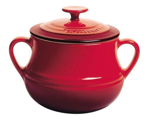 le creuset soup pot. Le Creuset Stoneware Bean Pot, Cerise, Large 4 Litre: Amazon.co.uk: Kitchen \u0026 Home Soup Pot