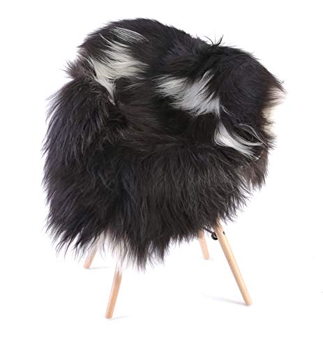 ESTRO   Natural Colour Genuine Icelandic Sheepskin Lambskin Rug   Long Wool  Luxurious   Colour Variety   ESN (M, Colour 3)