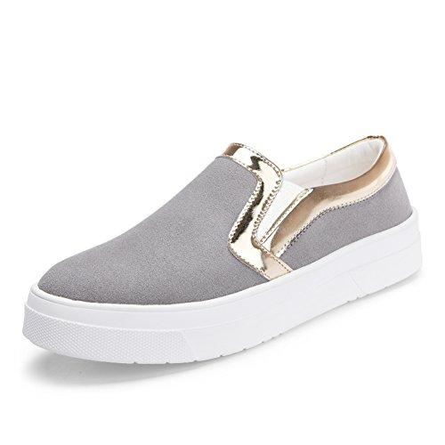 caída de Lok Fu zapatos de las mujeres/Versátil el zapato/Zapatos gruesos con casual estudiante en Inglaterra en el extremo del viento A