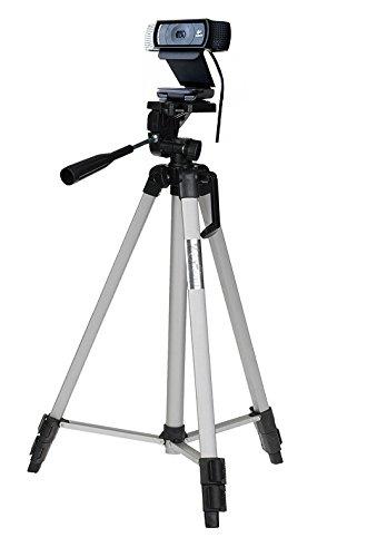 53'' Camera Tripod Mount Holder Stand for Logitech Webcam C925e C922x C922 C930e C930-Silver by AceTaken