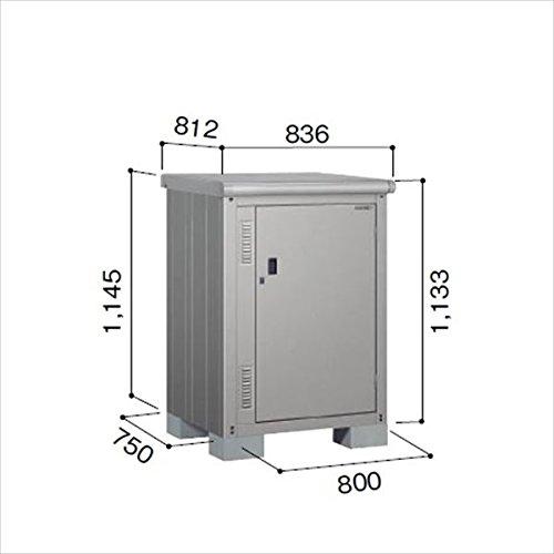 ヨドコウ ESE/エスモ ESE-0807Y SS 小型物置 『屋外用収納庫 DIY向け ESD-0807Yのモデルチェンジ』 スノーシルバー B07CH42V7L