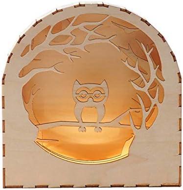 [해외]BEHEART Wooden Night Light 3D Wooden Puzzles Set Christmas Birthday Gift for Kids Boys Adults (Owl) / BEHEART Wooden Night Light, 3D Wooden Puzzles Set Christmas Birthday Gift for Kids Boys Adults (Owl)