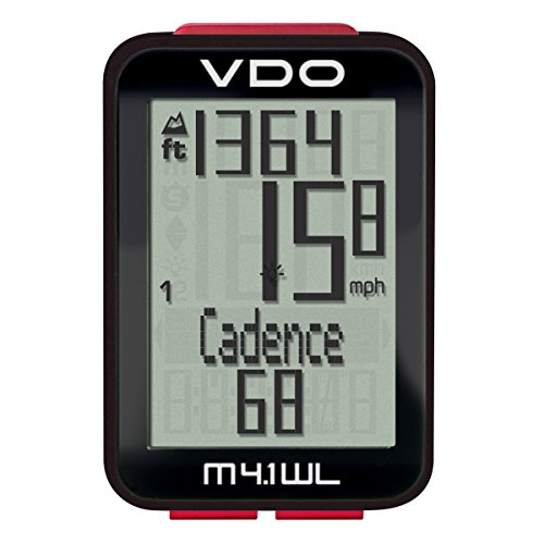 VDO M4.1 Bicycle Wireless Computer Digital Extra Durable Bike Cycling Computers (Vdo Bike Computer)