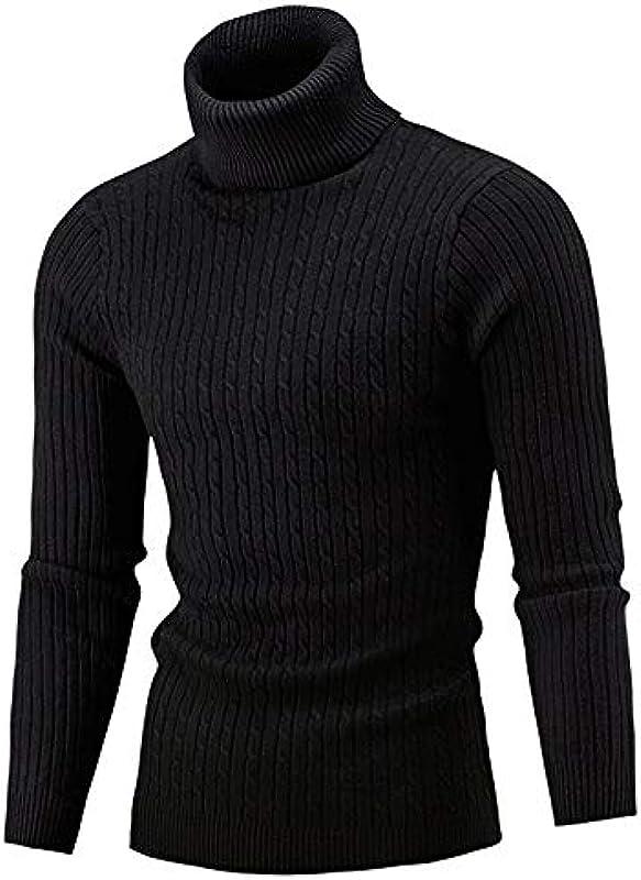 Rera męska dziergana bluza z wysokim kołnierzem bluza paski czas wolny koszulka z długim rękawem drobna dzianina sweter z dzianiny Jumper czysty kolor: Rera: Odzież