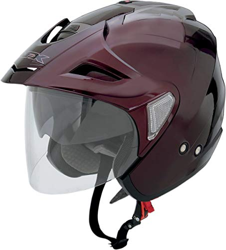 AFX FX-50 Unisex-Adult Open-Face-Helmet-Style Helmet (Wine, Small)
