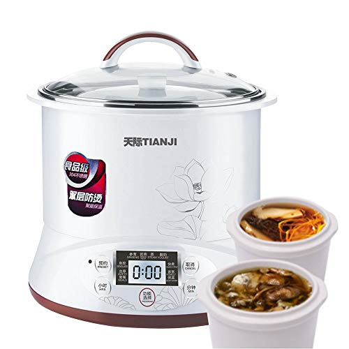 Tianji DGD22-22EG Pot Electric Stew Pot, Slow Cooker Soup Maker