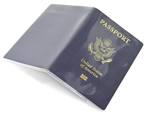 Passport Cover Clear Plastic Vinyl ID Card Protector Case Holder Pack of 5