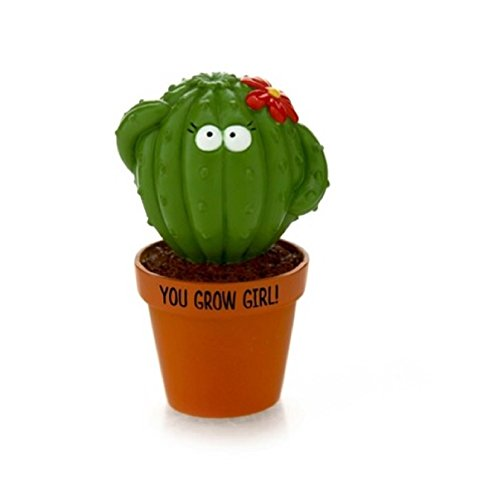 - Our Name Is Mud Grow Girl South Western Cactus Figurine