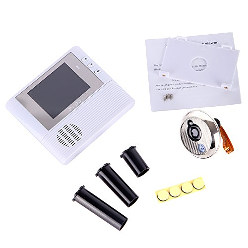 GigaMax(TM)2GB Digital Peephole Doorbell 0.3M Night Vision Video Record Home Security White