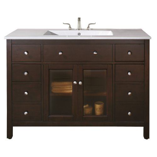 Avanity Lexington 48 in. Vanity Only in  Light Espresso finish price