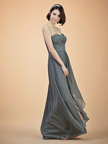 Long Dress Dress Line A Bridesmaid Evening Party Alicepub Women Yellow for Gown Prom Strapless d1awdp