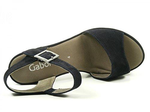 Gabor Shoes 65.751, Sandalias de Tacón Mujer Blau