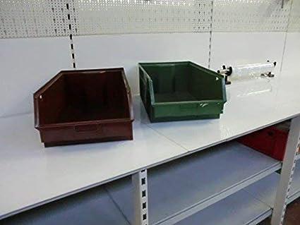 10x Cajas Apilables Dimensiones: 540x330x200mm Caja Para Almacenar Caja visualizable Para Almacén Almacén Herramienta STOCK